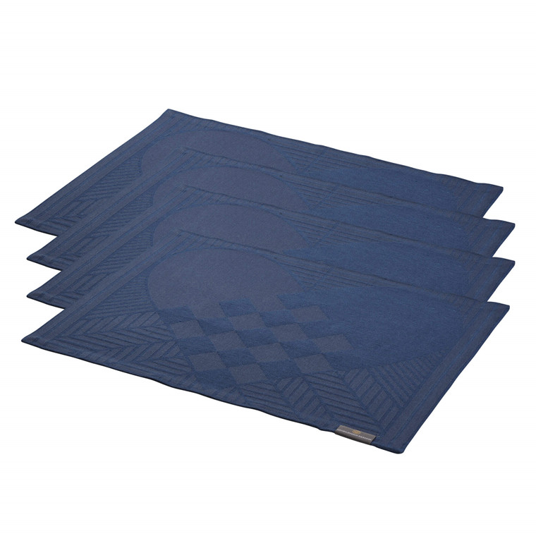 4 pcs CHRISTMAS RUSTIC placemats Blue