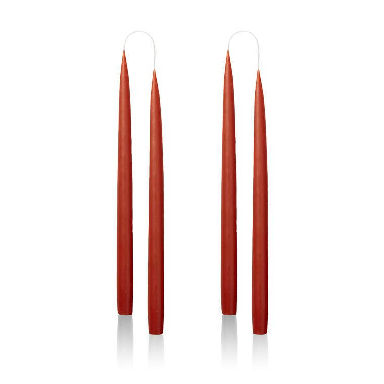4 Stück Kerzen Red