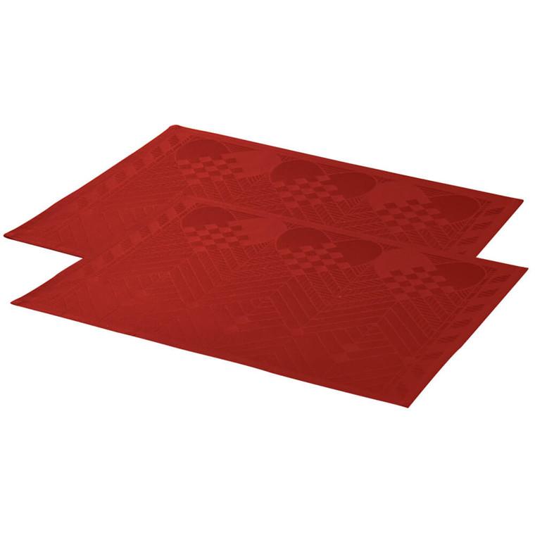 2 stk. JULESPISEBRIKKER Deep Red