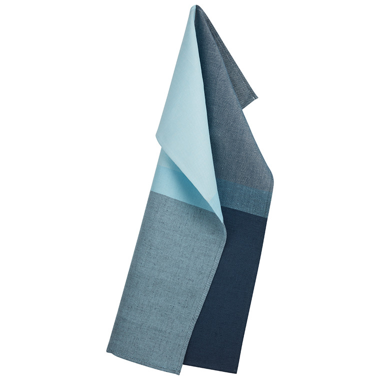 COLOURBLOCK Tea towels Blue Silver