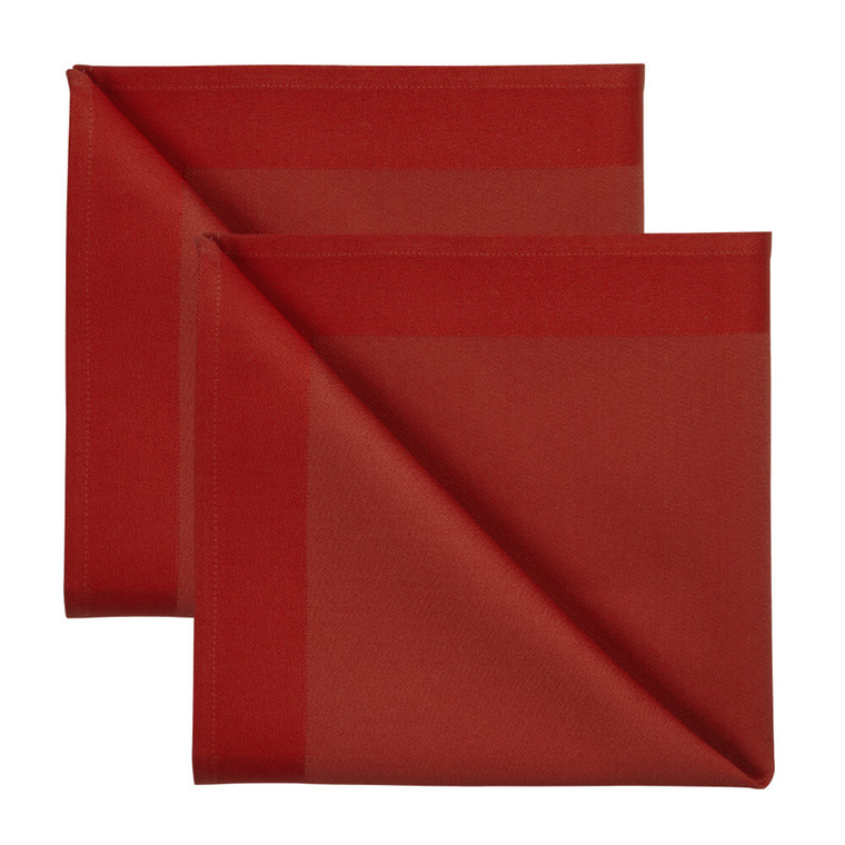 2 pcs Napkins Deep Red