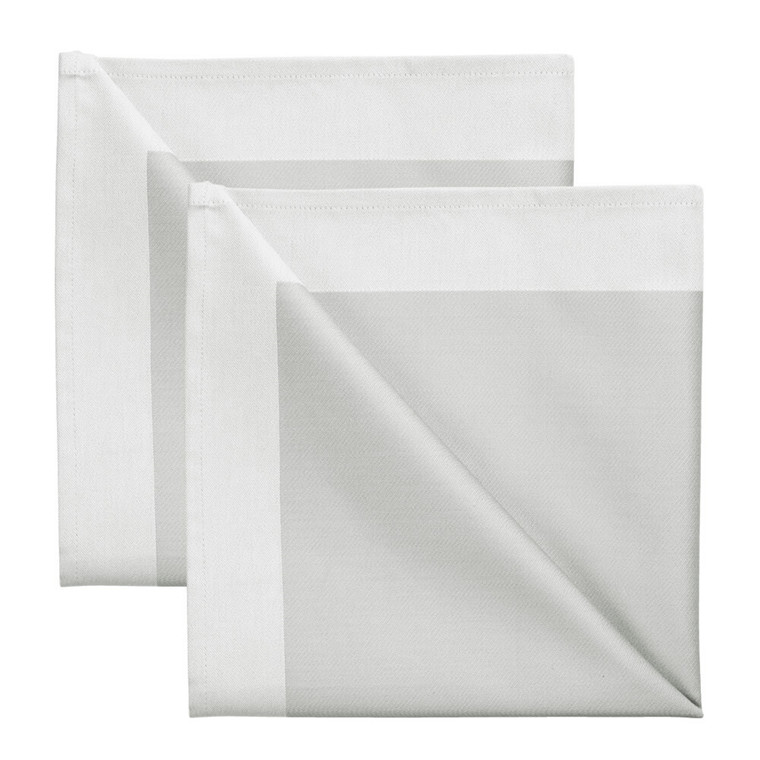 2 pcs Napkins  Opal Grey
