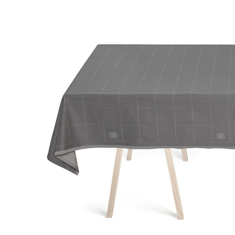 ENGESVIK by hand tablecloths  Winter Grey