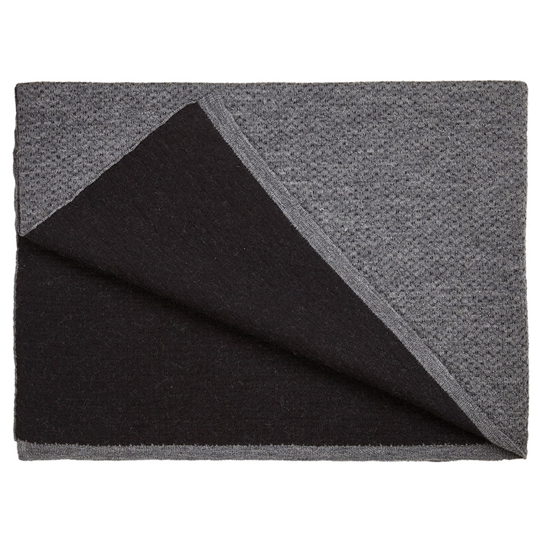 FLECKED throw Grey/Black