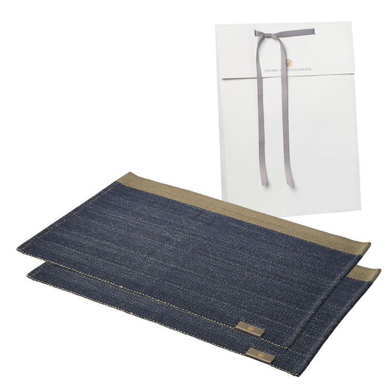 2 HERRINGBONE placemats
