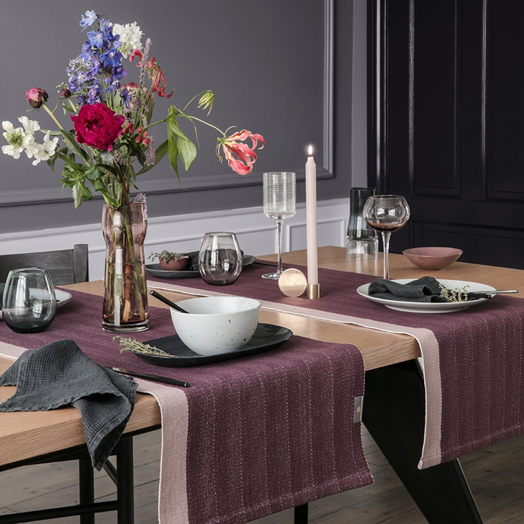 HERRINGBONE table runners Winetasting