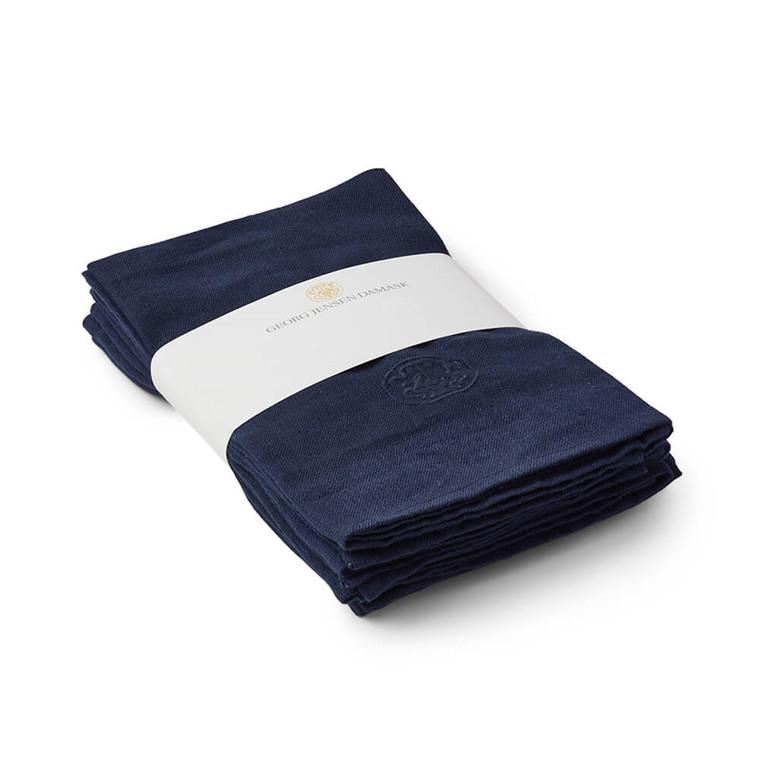 Set of 6 PLAIN Linen napkin Pacekage Deep Blue