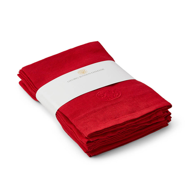 6 tlg. Leinen serviette paket Deep Red