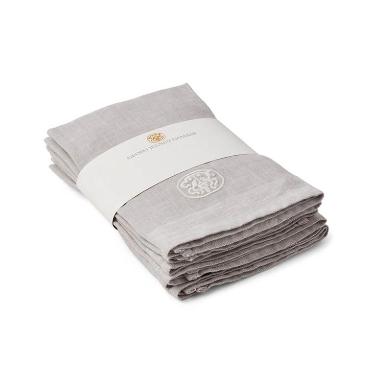 6 tlg. PLAIN Linen serviette Grey