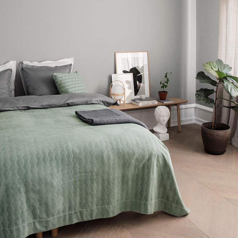KUBUS bedspread Dusty Green