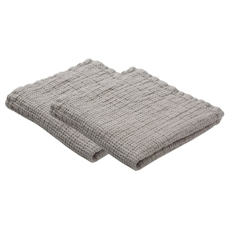 2 tlg. LINEN Spüllappen Light Grey