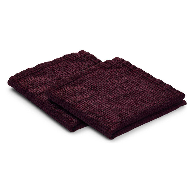 Set of 2 LINEN dishcloth Wine