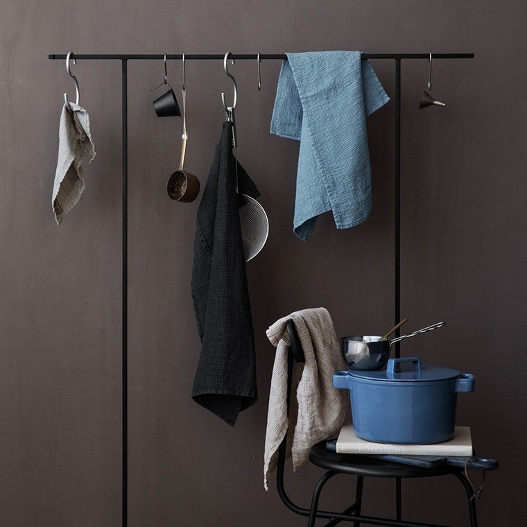 LINEN tea towels Dark Grey