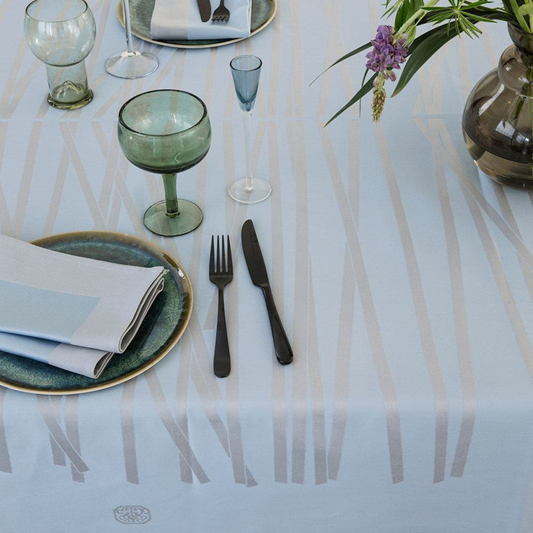 MIKADO tablecloths Blue Shimmer