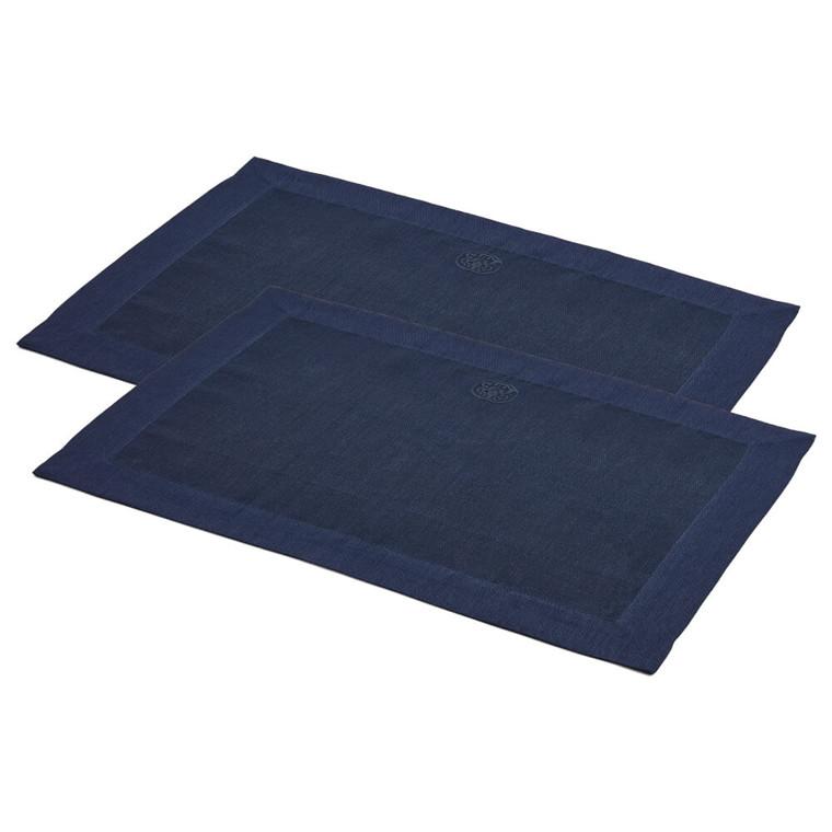 2 stk. PLAIN dækkeservietter Deep Blue