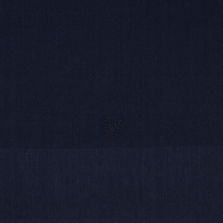 PLAIN damastduk  Deep Blue