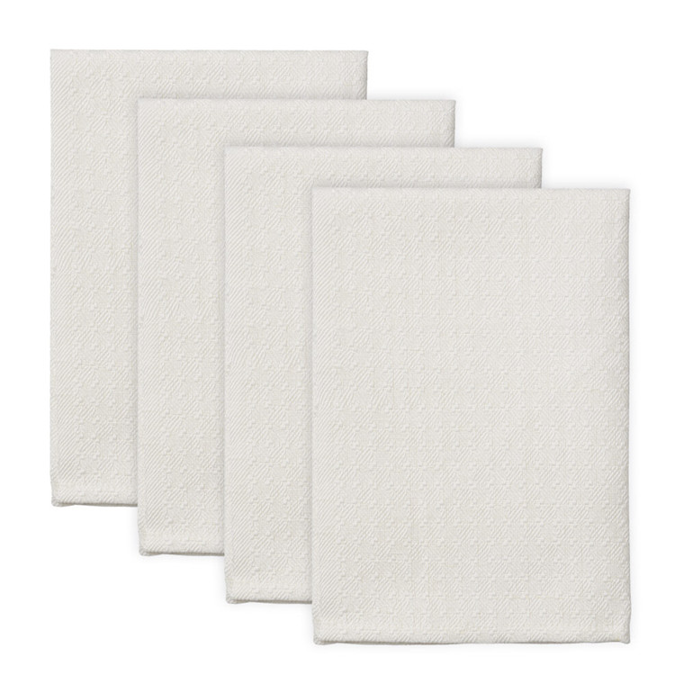 4 pcs  PUK Napkins White