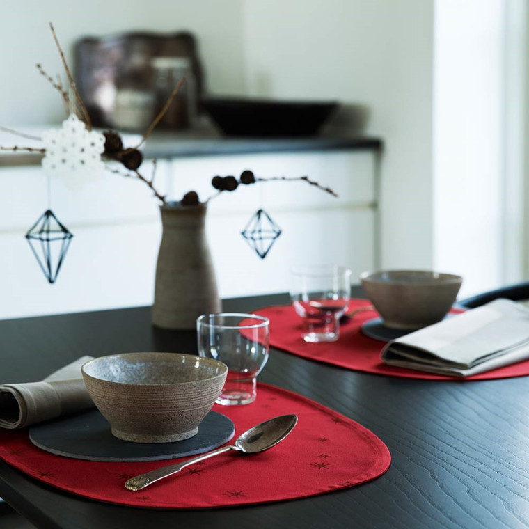 STARRY SKY placemats Dark Red
