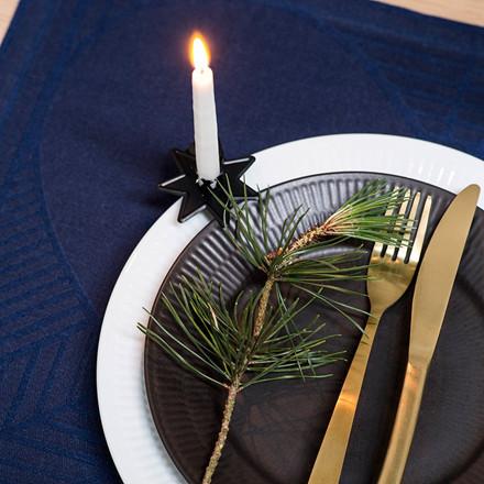 4 pcs CHRISTMAS RUSTIC placemats Blue