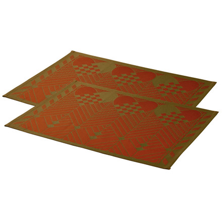 2 pcs CHRISTMAS placemats Red