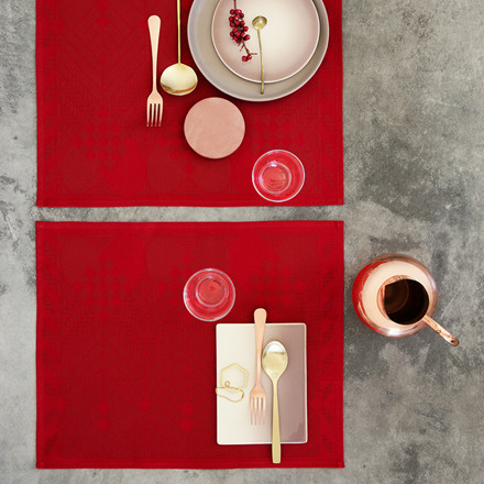 CHRISTMAS placemats Deep Red