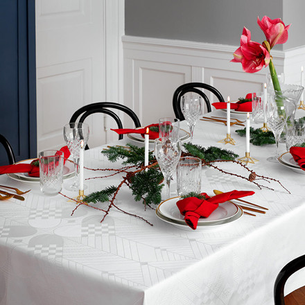 CHRISTMAS tablecloth white