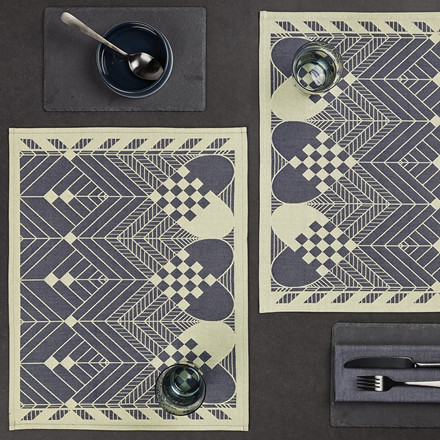 CHRISTMAS placemats Blue Gold