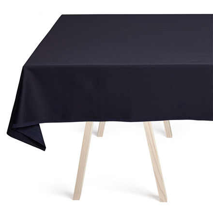 ENGESVIK by hand tablecloths Blue Abyss