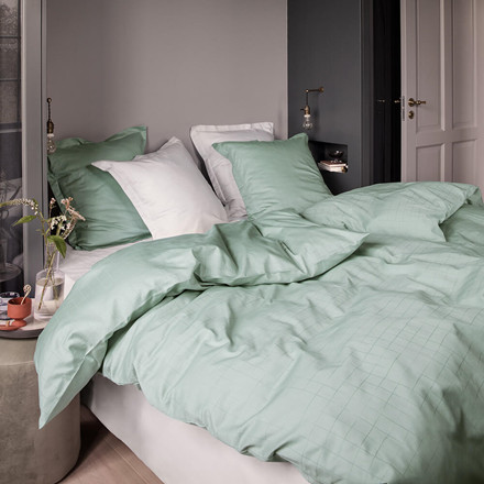 ENGESVIK by hand bed linen Jade Green