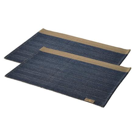 2 stycke HERRINGBONE bordstabletter Deep Blue