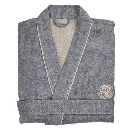 LINEN kimono Blue/Sand