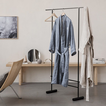LINEN kimono Sand/Off-White