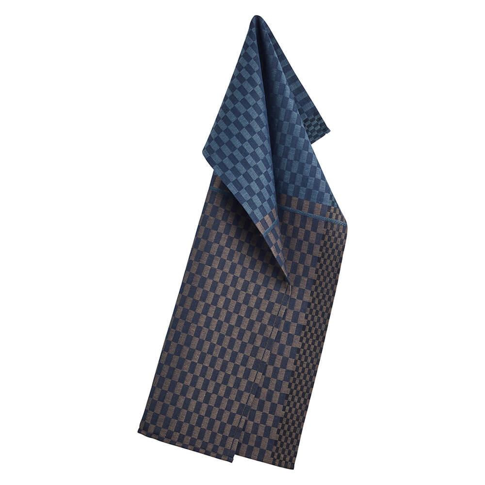 Timeless Blue Tea Towel That Reinterprets Chequered Kitchen Textiles Georg Jensen Damask