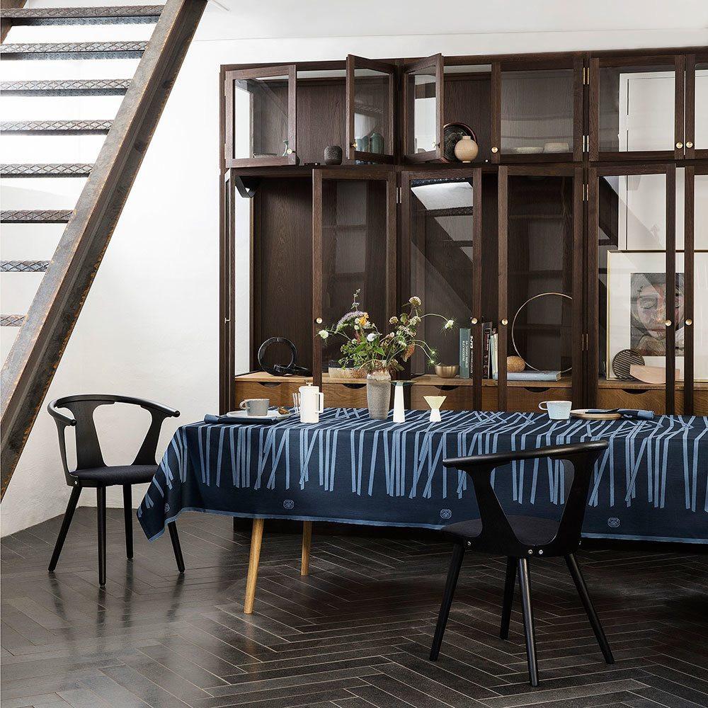 flot mikado black blue damaskdug fra georg jensen damask. Black Bedroom Furniture Sets. Home Design Ideas