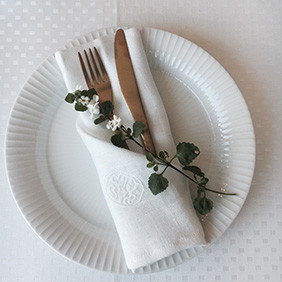 Linen napkins can be styled in every way