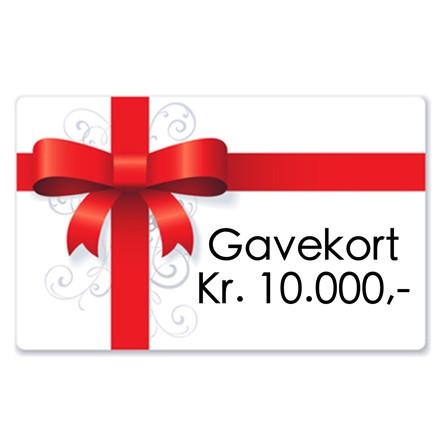 Gavekort kr. 10.000,-,