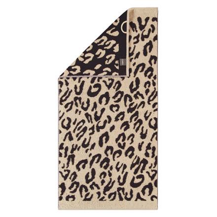 Cawö håndklæde Leopard brun 50x100