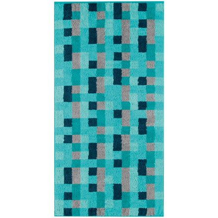 Cawö håndklæde Lille Mosaik Turkis 50x100