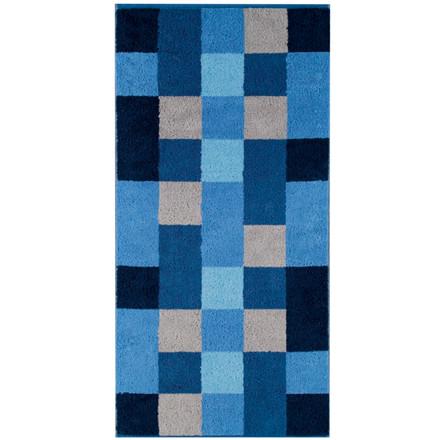 Cawö håndklæde 50x100 Stor Mosaik Blå
