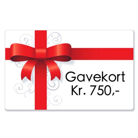 Gavekort kr. 750,-