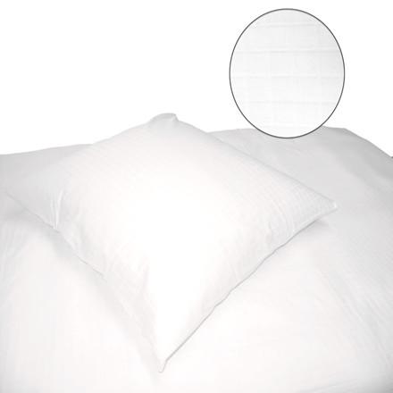 Blokkies bomuldssatin sengetøj hvid 140x220