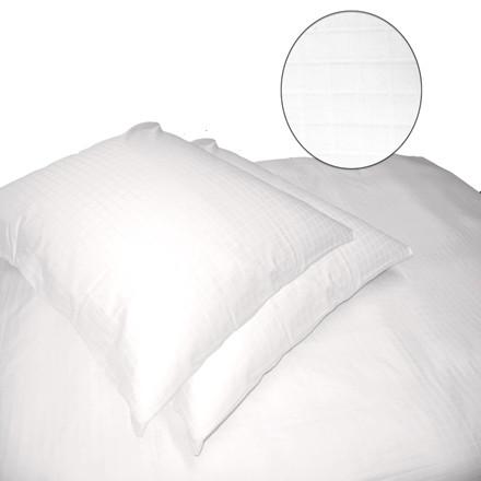 Blokkies bomuldssatin sengetøj til dobbeltdyne hvid 200x220
