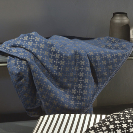 David Fussenegger Deco plaid Blå-grå 130x200