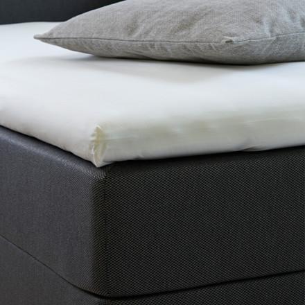 Bedroom Collektion kuvertlagen - topmadraslagen 90x200x5 bomuld hørfarvet