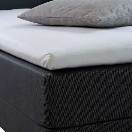 Bedroom Collektion lux kuvertlagen - topmadraslagen bomuldssatin hvid 180x200x5