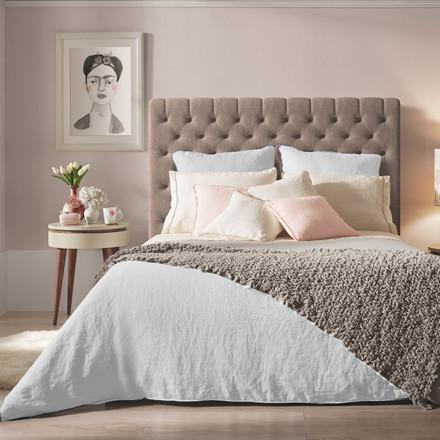 Sopire hør sengetøj Villa Nova hvid 140x200