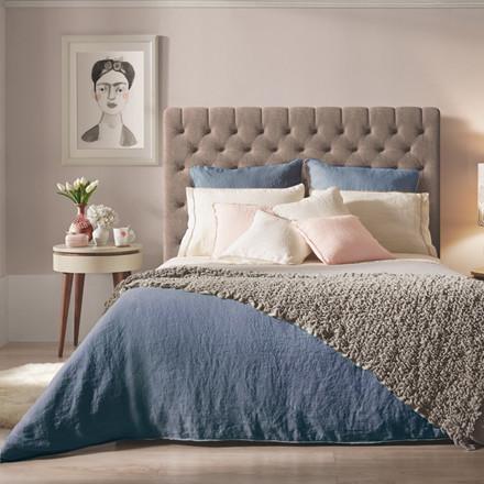 Sopire hør sengetøj Villa Nova blå 140x200