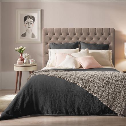 Sopire hør sengetøj Villa Nova antracit 140x200