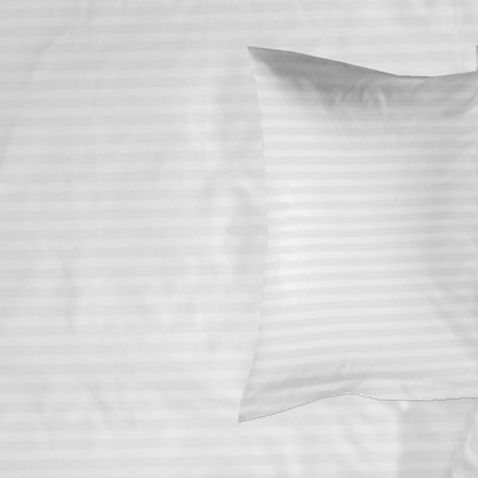 Znooze White Stripe bomuldssatin sengetøj 140x220