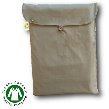 Bedroom Collektion Økologisk  kuvertlagen - topmardraslagen  lys grå 180x200x5